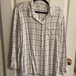 Old Navy Tunic Length Button Down